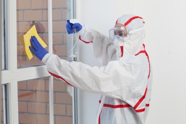 フンの処理や消毒も行い二次被害を防ぐ