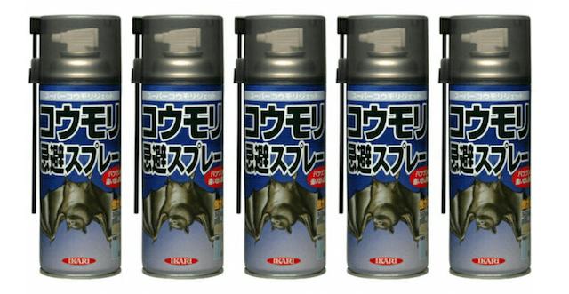 「コウモリスーパージェット」は殺虫剤やゴキジェットに似てるけど、れっきとしたコウモリ用スプレー