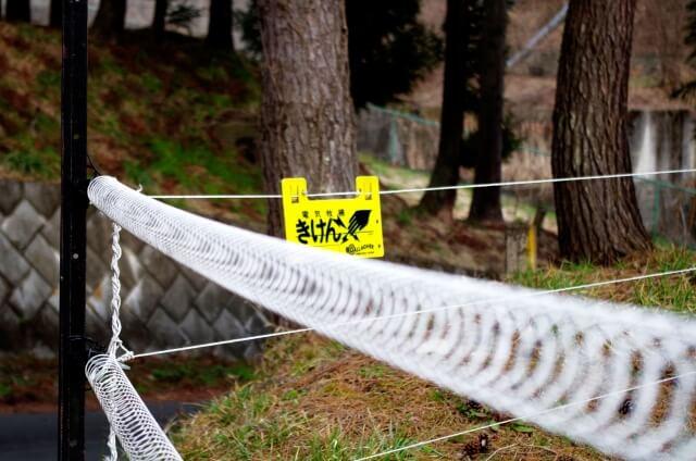 電気柵で侵入防止